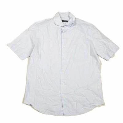 【中古】シップス SHIPS 半袖 シャツ ブラウス カットソー 無地 大きいサイズ XL 青 ブルー/9# メンズ