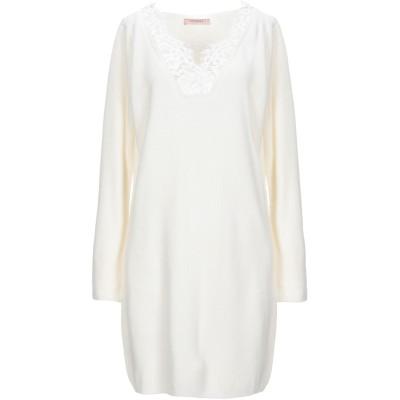 ツインセット シモーナ バルビエリ TWINSET ミニワンピース&ドレス アイボリー XS ウール 40% / レーヨン 30% / ポリアクリル