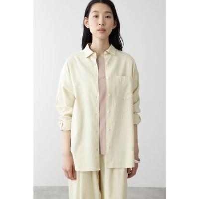 HUMAN WOMAN / ◆FOOD TEXTILEサテンシャツ