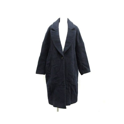 【中古】エンフォルド ENFOLD 16AW チェスターコート ロング オーバーサイズ 36 S 紺 ネイビー /NT21 レディース 【ベクトル 古着】