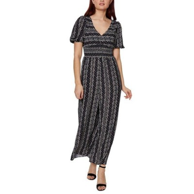 ベッツィジョンソン ワンピース トップス レディース Striped Floral Jumpsuit Black Multi
