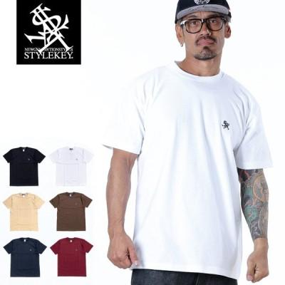STYLEKEY(スタイルキー) 半袖Tシャツ ROYAL POINT S/S TEE(SK21SU-SS02) ストリートファッション ヒップホップ レゲエ ダンス B系 定番ロゴ 大きいサイズ