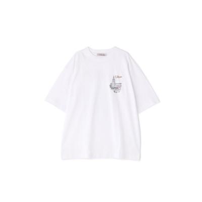 ネオンイラストTシャツ ホワイト33