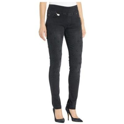 リゼッタ Lisette L Montreal レディース ジーンズ・デニム ボトムス・パンツ Betty Slim Jeans w/ Flower Embroidery Black