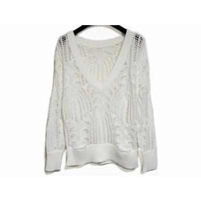 グレースコンチネンタル GRACE CONTINENTAL 長袖セーター サイズ36 S レディース 美品 白【中古】20200729