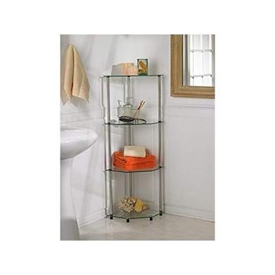 新品Convenience Concepts Designs2Go Classic Glass 4 Tier Corner Shelf, Glass