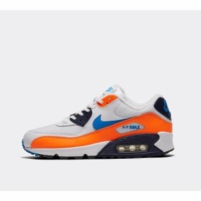 ナイキ Nike メンズ スニーカー シューズ・靴 air max 90 essential trainer White/Photo Blue/Total Orange