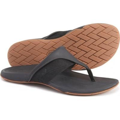 チャコ Chaco レディース ビーチサンダル シューズ・靴 Black Hermosa Flip-Flops - Leather Black