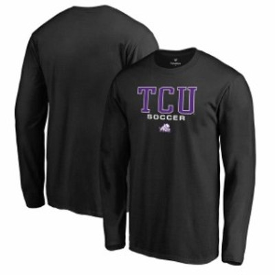 Fanatics Branded ファナティクス ブランド スポーツ用品  Fanatics Branded TCU Horned Frogs Black True Sport Soccer Long Sleeve T-S