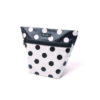 どこでも安心消臭おむつポーチ(ファスナータイプ) polka dot large(white) B1204900 日本製