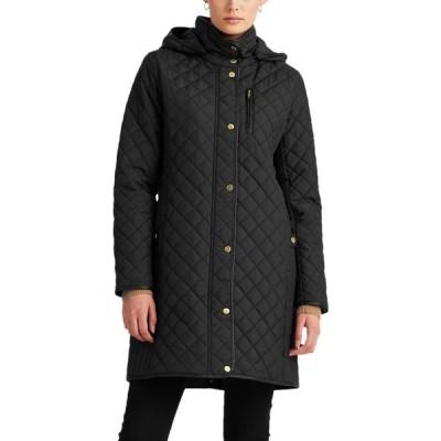 ラルフ ローレン LAUREN RALPH LAUREN レディース コート フード アウター Quilted Hooded Coat Black