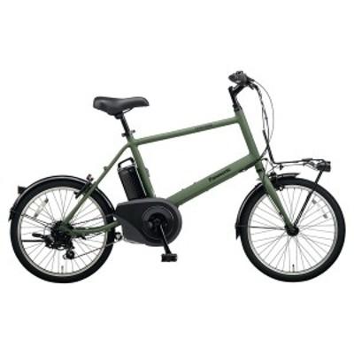 PANASONIC BE-ELVS072-G マットオリーブ ベロスター・ミニ [電動アシスト自転車(20インチ・外装7段変速)]