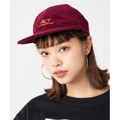 WEGO / WEGO/コーデュロイロゴキャップ WOMEN 帽子 > キャップ
