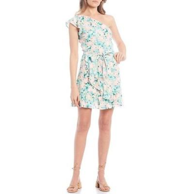 ジービー レディース ワンピース トップス Floral Print One Shoulder Dress