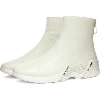 ラフ シモンズ Raf Simons メンズ スニーカー シューズ・靴 cylon leather sneaker boot White