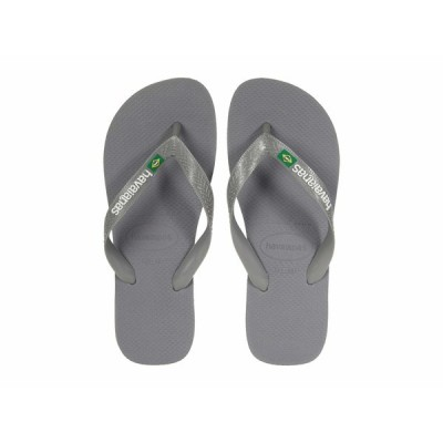 ハワイアナス サンダル シューズ レディース Brazil Logo Flip Flops Steel Grey/Grey