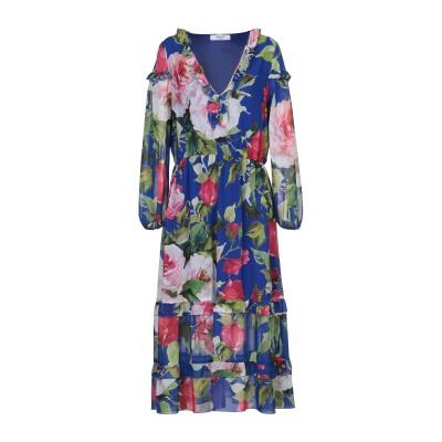 ブルーガール ブルマリン BLUGIRL BLUMARINE 7分丈ワンピース・ドレス ブルー 36 ポリエステル 100% 7分丈ワンピース・ドレス