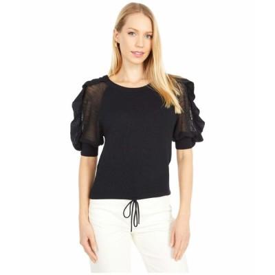 シーバイクロエ ニット&セーター アウター レディース Knit Puff Short Sleeve Sweater Black