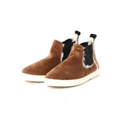 ブーツ berevere / IMP833 / ベロアサイドゴアショートブーツ
