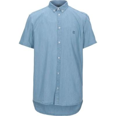 レドゥ LES DEUX メンズ シャツ デニム トップス Denim Shirt Blue