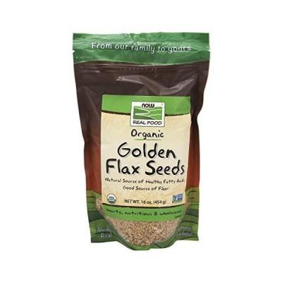 [海外直送品] ナウフーズ Golden Flax Seeds Organic 1 lb並行輸入品