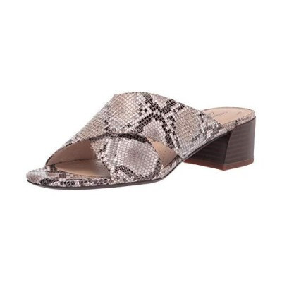 Clarks Women's Caroleigh Erin Heeled Sandal, Natural Snake Synthetic, 5