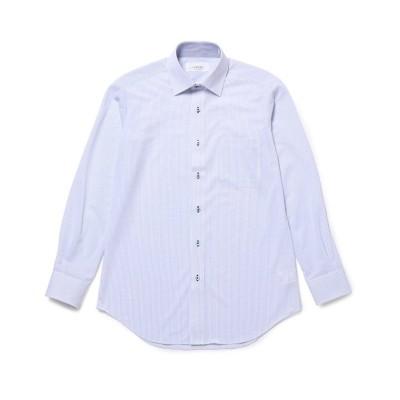 【ジュンレッド】 トリコットニットセミワイドドレスシャツ メンズ ブルー系 M JUNRed
