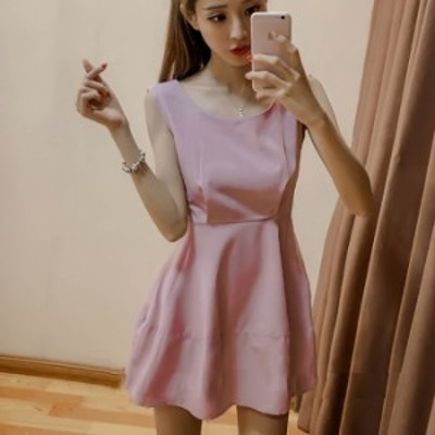 ワンピース ミニ丈 バックリボン ピンク 可愛い お呼ばれ 秋物 冬物 最新 レディース ファッション 2020 人気 可愛い 大人
