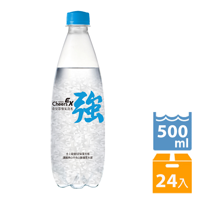泰山 Cheers EX 強氣泡水 (500ml*24入/箱)