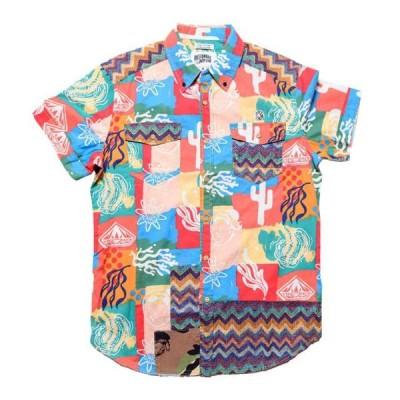 ビリオネアボーイズクラブ メンズ 服  Billionaire Boys Club Men Axis Woven Short Sleeve Shirt (pink / deep sea coral)
