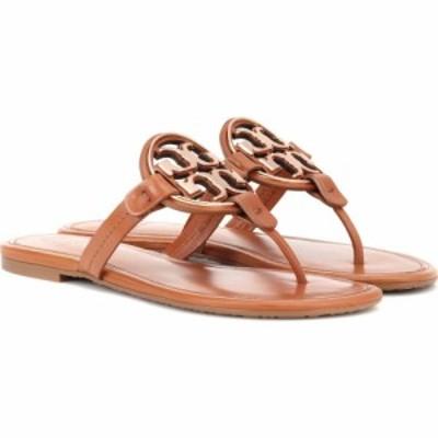 トリー バーチ Tory Burch レディース サンダル・ミュール シューズ・靴 Miller leather sandals Tan/Rose Gold