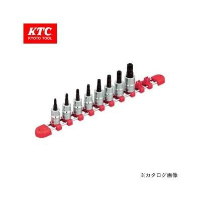 KTC 9.5sq.ショートT型いじり止めトルクスビットソケットセット(8コ組) TBT3S08TH