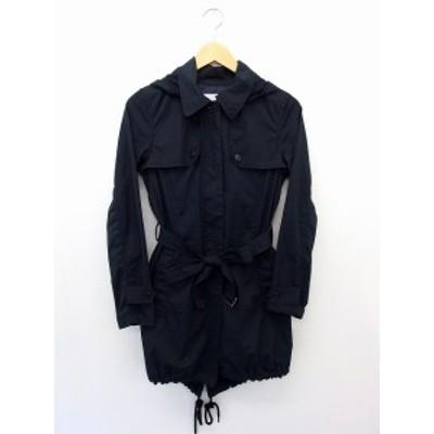 【中古】プラステ PLST ジャケット アウター ボタン フード スプリング コットン 綿 0 ネイビー 紺 /UT23 レディース