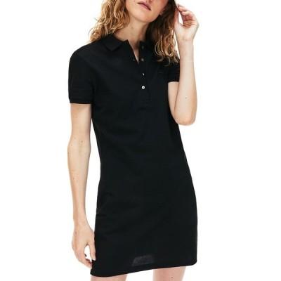 ラコステ ワンピース トップス レディース Slim-Fit Stretch Piqué Polo Dress Black
