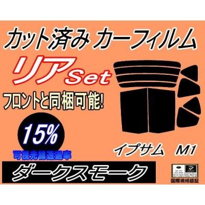リア (b) イプサム M1 (15%) カット済み カーフィルム 10系 SXM10G SXM15G CXM10G トヨタ