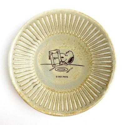 スヌーピー プレート 小 テーブル柄 スヌーピー キッチン プレート 皿 和風 レトロ ベージュ  日本
