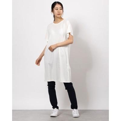 プーマ PUMA レディース ワンピース デザイン Tシャツドレス 589188 (ホワイト)