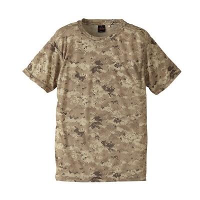 /メール便送料無料/自衛隊 Tシャツ メンズ ミリタリー J.S.D.F. 半袖 ドライクールナイス カモフラージュTシャツ/ピクセルデザート