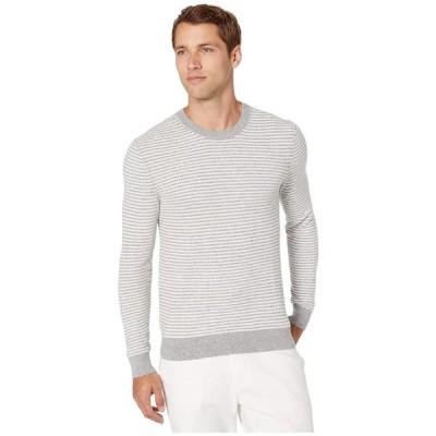 マイケル コース Michael Kors メンズ ニット・セーター トップス Zigzag Stripe Crew Sweater Heather Grey