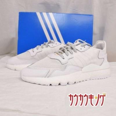 【中古】(未使用) adidas/アディダス NITE JOGGER ナイト ジョガー RUNNING WHITE/CRYSTAL 白 BD7676 サイズ28.0cm 19年新作
