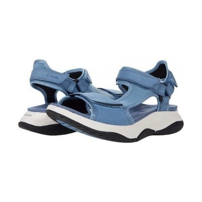 Clarks クラークス レディース 女性用 シューズ 靴 サンダル Wave2.0 Skip. - Blue Textile/Nubuck Combi