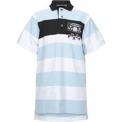 プラダ PRADA メンズ ポロシャツ トップス Polo Shirt Sky blue