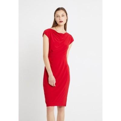 ラルフローレン ワンピース レディース トップス MID WEIGHT DRESS - Shift dress - parlor red