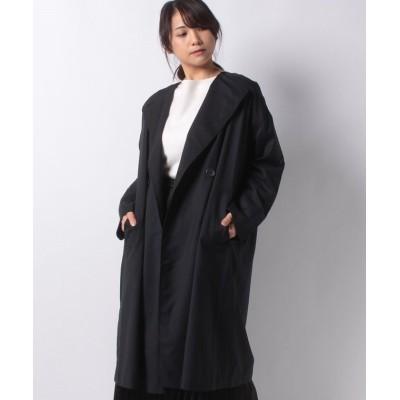 【アツロウタヤマ】 ノーカラーコート レディース ネイビー 36 ATSURO TAYAMA