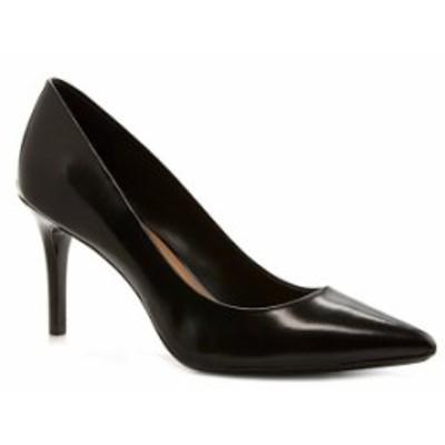 カルバンクライン レディース ヒール シューズ Gayle Leather Pointed-Toe Pumps Black
