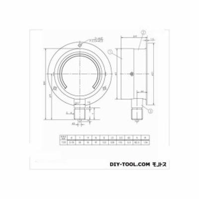 第一計器製作所 HNT汎用圧力計(蒸気用・M) BMT3/8-100:1MPA 1個