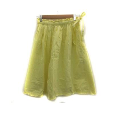 【中古】マリンフランセーズ LA MARINE FRANCAISE スカート フレア ミモレ丈 イエロー 黄色 /YM11 レディース 【ベクトル 古着】