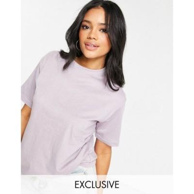 ミスガイデッド Missguided レディース Tシャツ トップス Basic Oversized T-Shirt In Lilac パープル