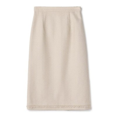 スカート ESTNATION / ツイードフリンジタイトスカート