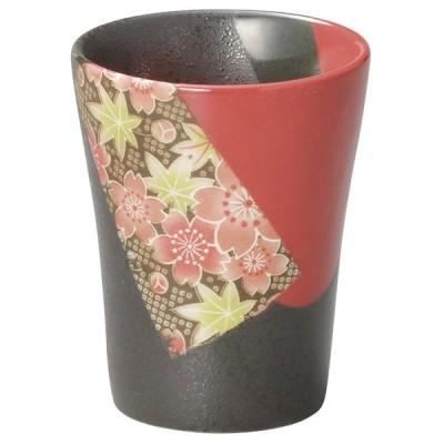 酒器 フリーカップ / 京桜赤流しフリーカップ 寸法: 7.5 x 9.4cm・213cc 203g